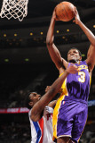 Los Angeles Lakers v Detroit Pistons: Devin Ebanks and Ben Gordon Photographic Print by D. Lippitt-Einstein