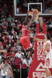 Chicago Bulls v Houston Rockets: Ronnie Brewer and Brad Miller Photographic Print by Bill Baptist