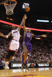 Phoenix Suns v Miami Heat: Grant Hill and Chris Bosh Photographic Print by Mike Ehrmann