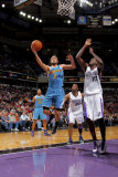 New Orleans Hornets v Sacramento Kings: Marco Belinelli and Samuel Dalembert Photographic Print by Rocky Widner