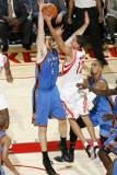 Oklahoma City Thunder v Houston Rockets: Nick Collison and Kevin Martin Photographic Print by Bill Baptist