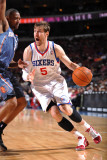 Charlotte Bobcats v Philadelphia 76ers: Andres Nocioni and Dominic McGuire Photographic Print by Jesse D. Garrabrant