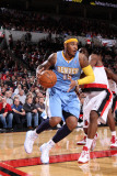 Denver Nuggets v Portland Trail Blazers: Wesley Matthews and Carmelo Anthony Photographic Print by Sam Forencich