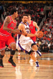 Chicago Bulls v Phoenix Suns: Hedo Turkoglu and James Johnson Photographic Print by Barry Gossage