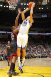 Miami Heat v Golden State Warriors: Lou Amundson and James Jones Photographic Print by Rocky Widner
