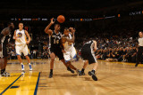 San Antonio Spurs v Golden State Warriors: Monta Ellis and Gary Neal Photographic Print by Jed Jacobsohn