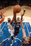 Memphis Grizzlies v Los Angeles Clippers: Darrell Arthur, Marc Gasol and Baron Davis Photographic Print by Noah Graham