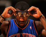 New York Knicks v Denver Nuggets: Amar'e Stoudemire Reproduction photographique par Doug Pensinger