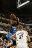 Orlando Magic v Indiana Pacers: Vince Carter and Josh McRoberts Photographic Print by Ron Hoskins