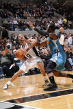 New Orleans Hornets v San Antonio Spurs: Tony Parker and Chris Paul Photographic Print by D. Clarke Evans