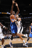 Dallas Mavericks v San Antonio Spurs: Tony Parker and Ian Mahinmi Photographic Print by D. Clarke Evans