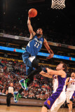 Minnesota Timberwolves v Phoenix Suns: Corey Brewer and Goran Dragic Photographic Print by Barry Gossage