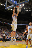 Miami Heat v Golden State Warriors: David Lee Photographic Print by Rocky Widner