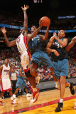 Washington Wizards v Miami Heat: Nick Young and Joel Anthony Photographic Print by Victor Baldizon