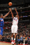 New York Knicks v Los Angeles Clippers: Willie Warren and Amar&#39;e Stoudemire Photographic Print by Noah Graham