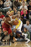Cleveland Cavaliers v Indiana Pacers: Solomon Jones and Jamario Moon Photographic Print by Ron Hoskins