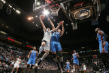Oklahoma City Thunder v Minnesota Timberwolves: Kevin Love and Nenad Krstic Photographic Print by David Sherman