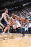 Oklahoma City Thunder v Utah Jazz: Thabo Sefolosha and Gordon Hayward Photographic Print by Melissa Majchrzak