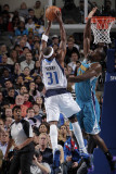 New Orleans Hornets v Dallas Mavericks: Jason Terry and Emeka Okafor Photographic Print by Glenn James