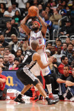 San Antonio Spurs v Los Angeles Clippers: Baron Davis and Tony Parker Photographic Print by Noah Graham