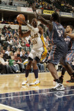 Charlotte Bobcats v Indiana Pacers: Roy Hibbert and Kwame Brown Photographic Print by Ron Hoskins