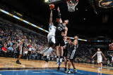 San Antonio Spurs v Minnesota Timberwolves: Anthony Tolliver and Tiago Splitter Photographic Print by David Sherman