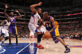 Los Angeles Lakers v Los Angeles Clippers: Kobe Bryant and Eric Gordon Photographic Print by Noah Graham
