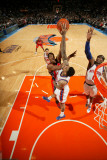 New Jersey Nets v New York Knicks: Derrick Favors, Wilson Chandler and Amar'e Stoudemire Photographic Print by Nathaniel S. Butler
