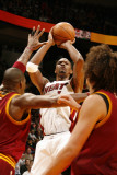 Cleveland Cavaliers v Miami Heat: Chris Bosh Photographic Print by Issac Baldizon