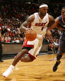 Charlotte Bobcats v Miami Heat: LeBron James Photographic Print by Issac Baldizon