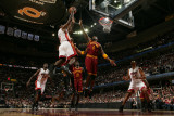 Miami Heat v Cleveland Cavaliers: LeBron James, Jamario Moon and Antawn Jamison Photographic Print by David Liam Kyle