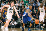 Golden State Warriors v Utah Jazz: Monta Ellis and Gordon Hayward Photographic Print by Melissa Majchrzak