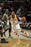 Boston Celtics v Cleveland Cavaliers: Mo Williams, Rajon Rondo and Kevin Garnett Photographic Print by David Liam Kyle