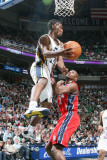 New Jersey Nets v Utah Jazz: Ronnie Price and Travis Outlaw Photographic Print by Melissa Majchrzak