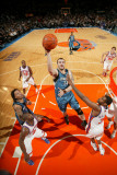 Minnesota Timberwolves v New York Knicks: Nikola Pekovic and Shawne Williams Photographic Print by Nathaniel S. Butler