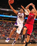 Los Angeles Clippers v Phoenix Suns: Grant Hill and Blake Griffin Photographic Print by Barry Gossage