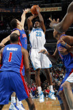 Detroit Pistons v New Orleans Hornets: Quincy Pondexter and Austin Daye Photographic Print by Layne Murdoch