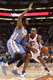 Denver Nuggets v Phoenix Suns: Grant Hill and Nene Photographic Print by Christian Petersen