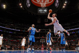 Orlando Magic v Los Angeles Clippers: Blake Griffin, Jameer Nelson, Dwight Howard and Mickael Pietr Fotografisk tryk af Noah Graham