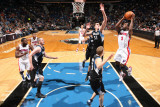Detroit Pistons v Minnesota Timberwolves: Rodney Stuckey and Darko Milicic Photographic Print by David Sherman