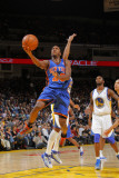New York Knicks v Golden State Warriors: Toney Douglas Photographic Print by Rocky Widner