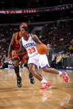 Cleveland Cavaliers v Philadelphia 76ers: Louis Williams and Daniel Gibson Photographic Print by Jesse D. Garrabrant
