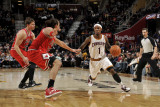 Chicago Bulls v Cleveland Cavaliers: Daniel Gibson, Kyle Korver and Joakim Noah Photographic Print by David Liam Kyle