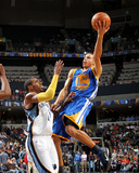Golden State Warriors v Memphis Grizzlies: Stephen Curry and Mike Conley Photographic Print by Joe Murphy