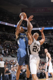 Minnesota Timberwolves v San Antonio Spurs: Michael Beasley and Richard Jefferson Photographic Print by D. Clarke Evans