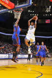New York Knicks v Golden State Warriors: Monta Ellis and Ronny Turiaf Photographic Print by Rocky Widner
