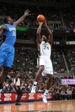 Orlando Magic v Utah Jazz: Paul Millsap and Brandon Bess Photographic Print by Melissa Majchrzak