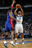 Detroit Pistons v New Orleans Hornets: Willie Green and Tracy McGrady Photographic Print by Layne Murdoch