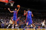 Detroit Pistons v Golden State Warriors: Tayshaun Prince Fotografisk tryk af Rocky Widner
