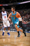 New Orleans Hornets v Philadelphia 76ers: Marco Belinelli and Jrue Holliday Photographic Print by David Dow